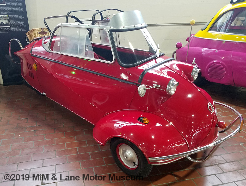A very different type of microcar where the driver sat in front and the passenger behind