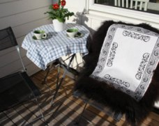 Handmade sheepskin rug