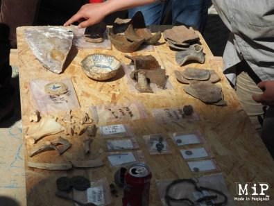 Objets découverts dans les fouilles du presbytère