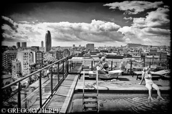 Barcelone - Grils on the roof