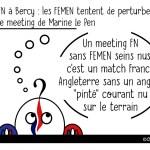 DuBulle #26 Les FEMEN tentent de perturber le meeting du FN à Bercy