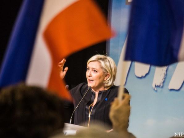 Marine Le Pen lors du meeting à Perpignan - 2017