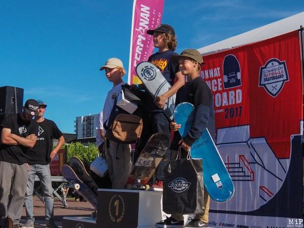 Championnat de France Skateboard - Etape Perpignan - Podium-5060802