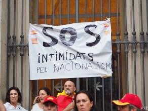 Barcelone - Manifestation des pro Espagne contre le référendum catalan-9300269