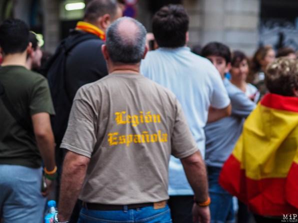 Barcelone - Manifestation des pro Espagne contre le référendum catalan-9300292