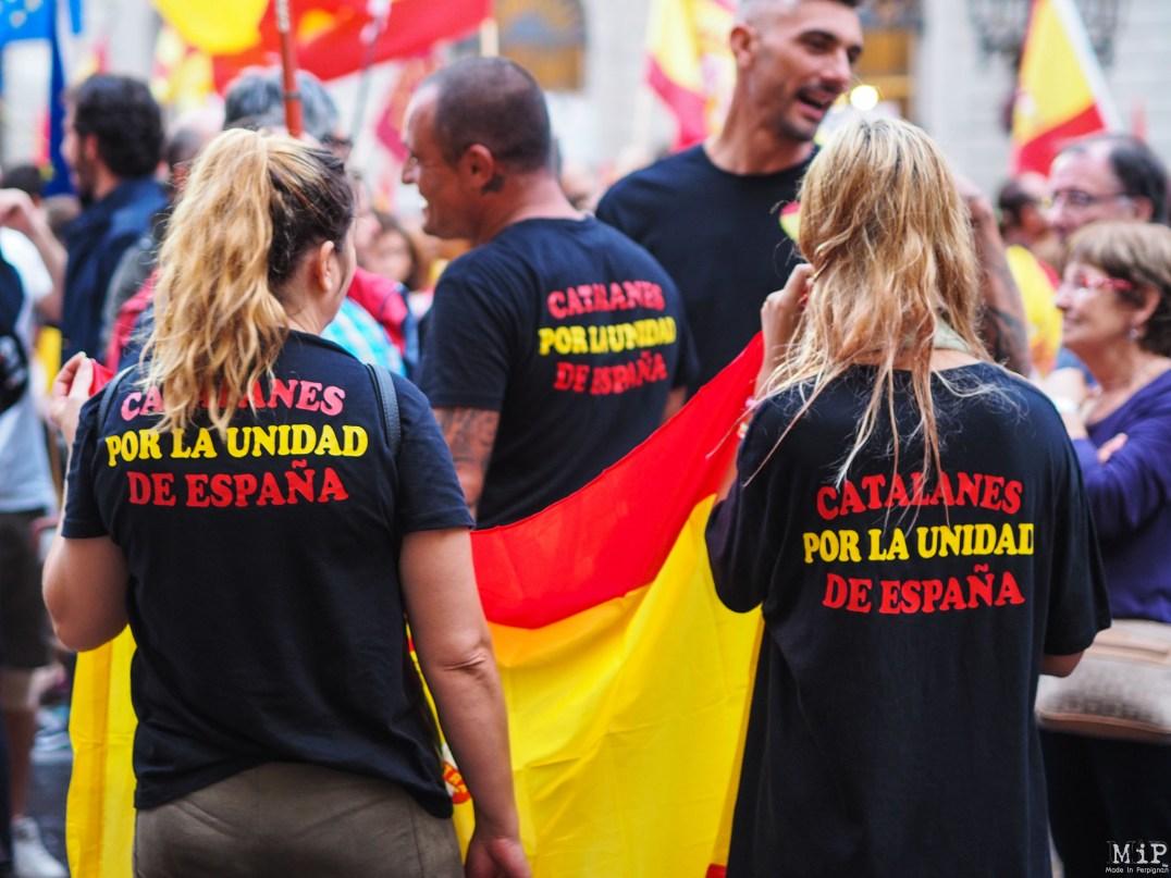 Barcelone - Manifestation des pro Espagne contre le référendum catalan-9300353
