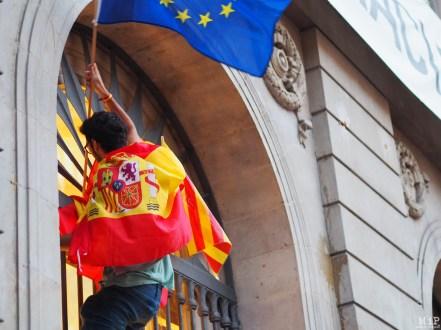 Barcelone - Manifestation des pro Espagne contre le référendum catalan - Archives 29 septembre 2017