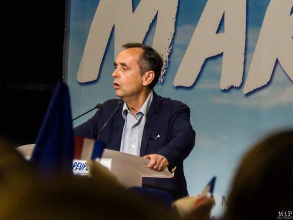 Robert Ménard lors du meeting de Marine Le Pen à Perpignan - Avril 2017