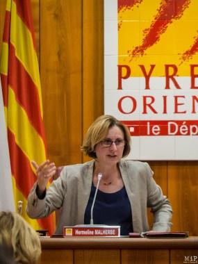 Hermeline Malherbe - Présidente du Conseil Départemental 66