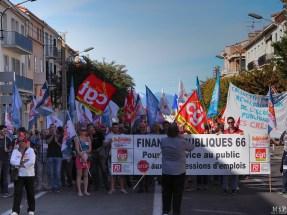 Perpignan - Manifestation pour défendre la fonction publique -100015