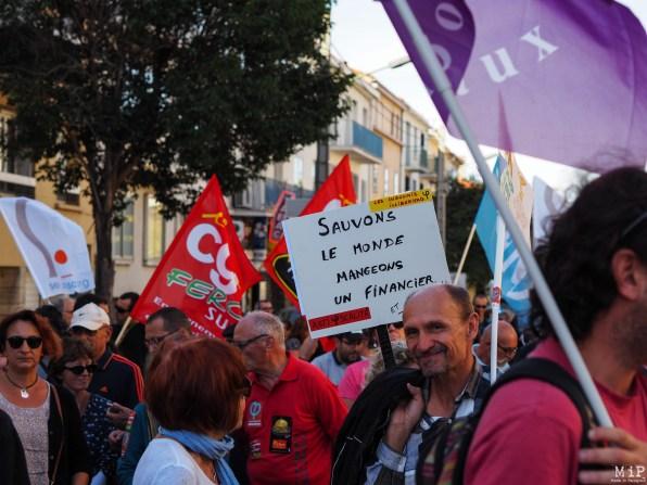 Perpignan - Manifestation pour défendre la fonction publique -100032