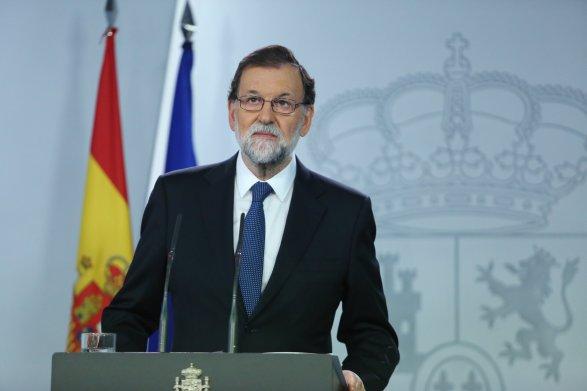 Rajoy - image twitter de la conférence de presse d'après référendum
