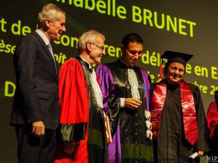 François Molins, Fabrice Lorente et Anabelle Brunet