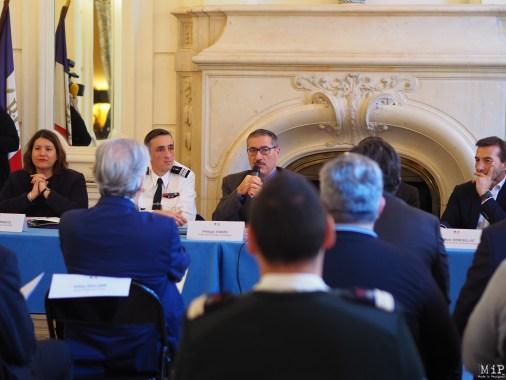 De gauche à droite, Edwige Darracq, Denis Nauret, Philippe Vignes et Jean Marc Rebouillat face au comité de pilotage de la police ce sécurité du quotidien