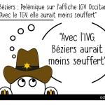 DuBulle #48 Une affiche «pro-TGV» fait scandale à Béziers