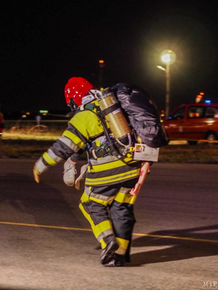 Simulation grandeur nature d'un crash d'avion à Perpignan-3290693