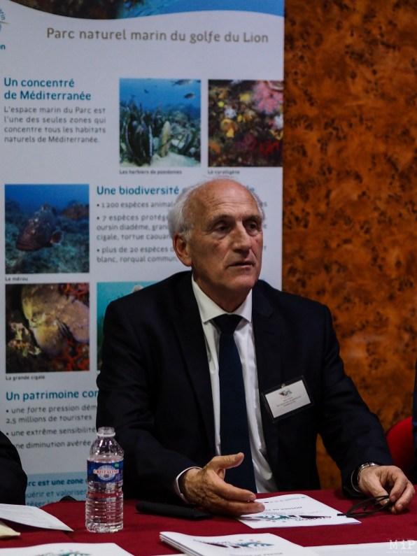 Michel Moly, Président du Parc Naturel Marin