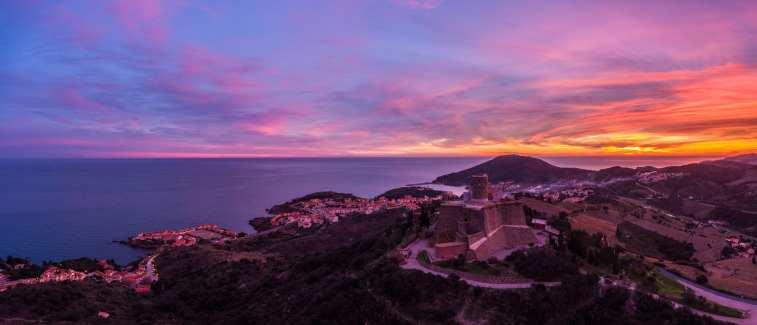 Coucher de soleil sur le Fort Saint Elme