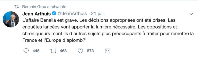 Romain Grau RT Jean Arthuis