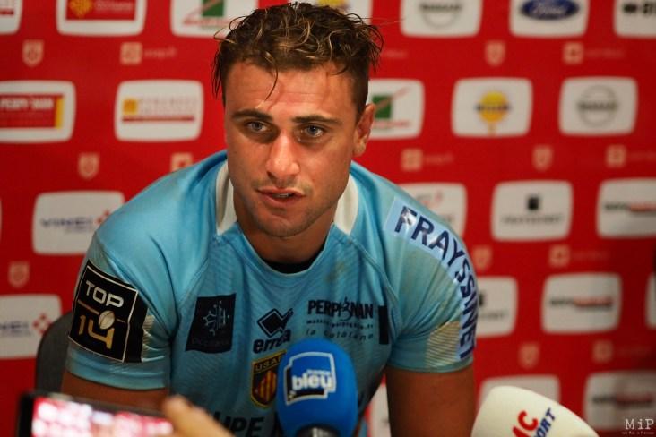 JB Pujol - USAP contre LOU - Rugby Top 14 - Perpignan