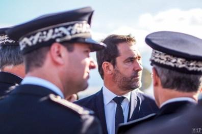 Le Ministre de l'Intérieur, Christophe Castaner, visite éclair dans les Pyrénées-Orientales