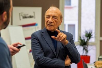 Jacques Séguela à Perpignan sur invitation du Pole Action Média du Soler