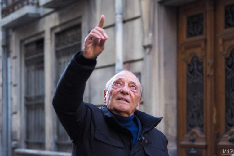 Jacques Séguela nous montre son ancien logement au 12 rue Emile Zola à Perpignan