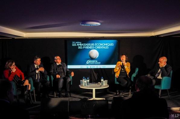 De gauche à droite, Hermeline Malherbe, Alain Ferrand, Jean-Marc Pujol, Carole Delga et Laurent Gauze