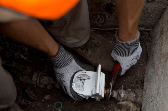 Remote meter reading intervention