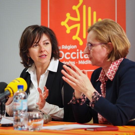 Carole Delga et Hermeline Malherbe