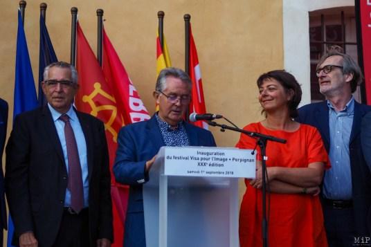Inauguration Visa pour l'Image Jean-Paul Griolet septembre 2018 Perpignan
