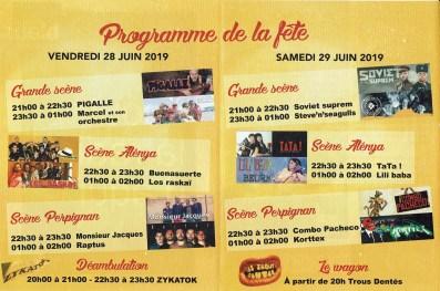 Programme de la fête du TC 2019