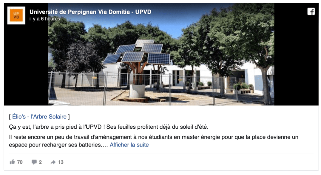 Arbre solaire UPVD