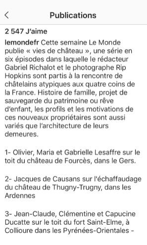 Instagram Le Monde - Credit photo - Rip Hopkins : Agence Vu pour Le Monde