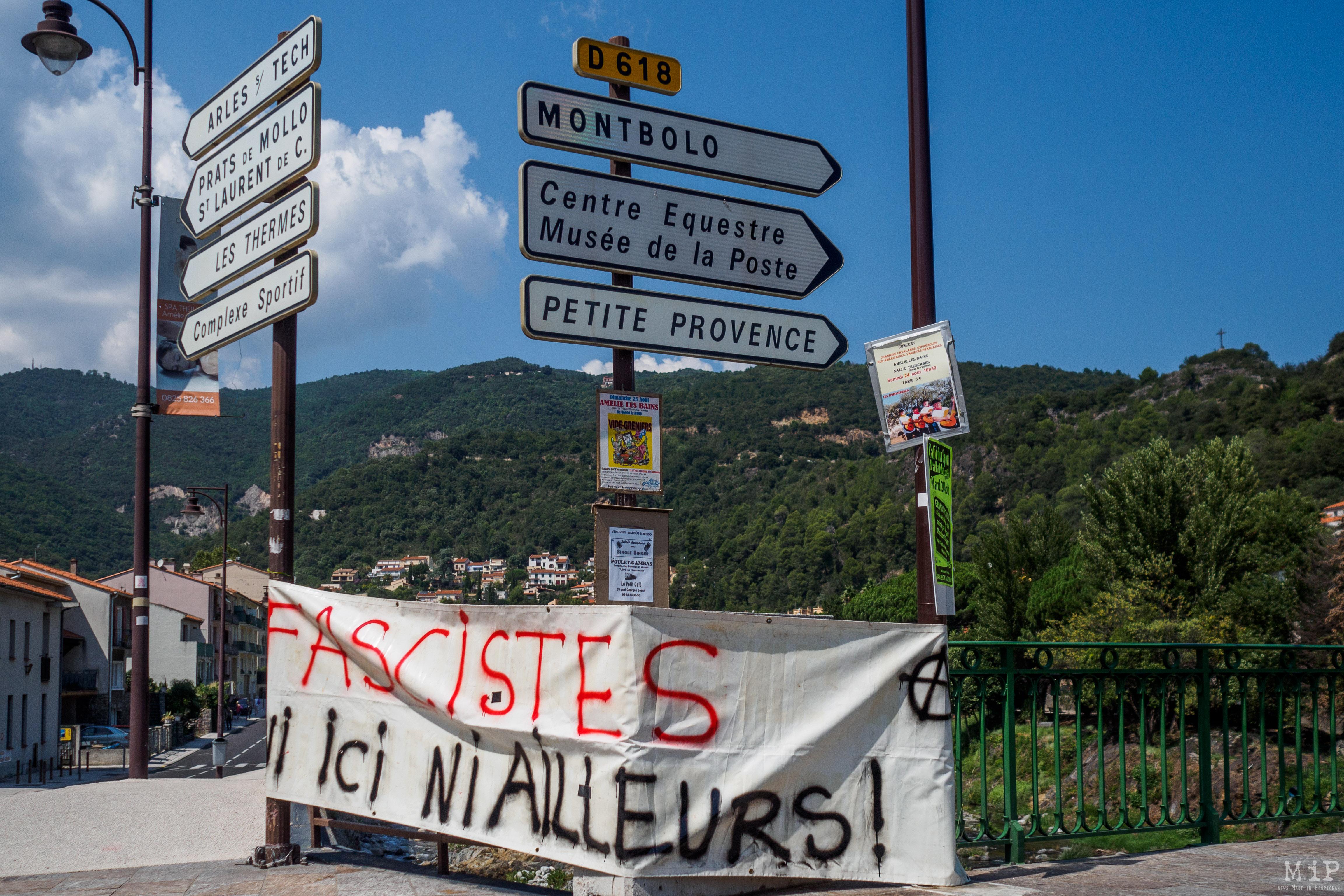 Céret Amélie les Bains antifa