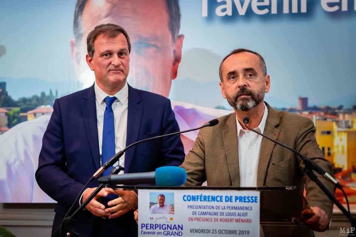 Inauguration permanence Louis Aliot Robert Menard Perpignan