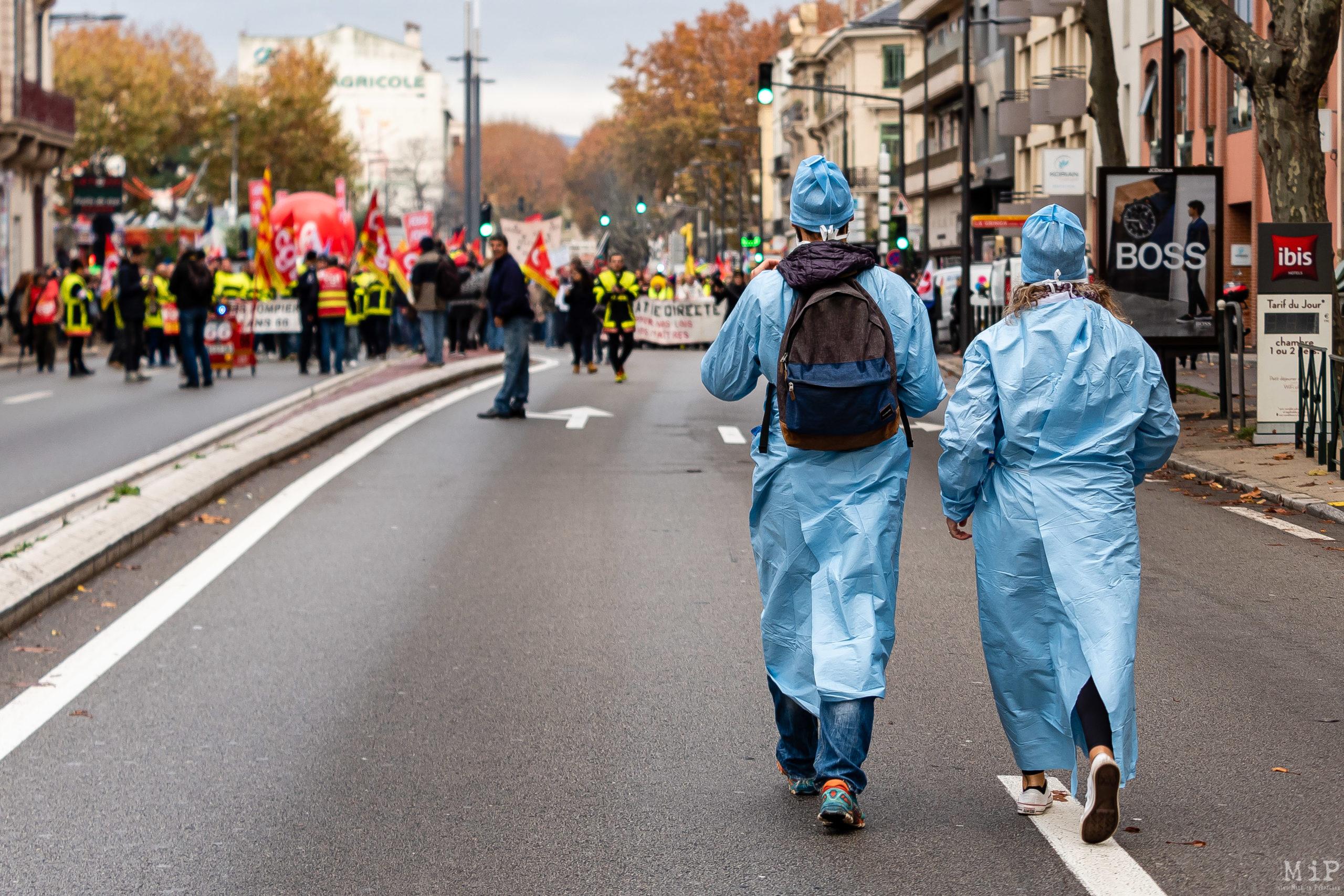 Rétrospective actualité Pyrénées-Orientales 2019 - Manifestations Grève réforme des retraites
