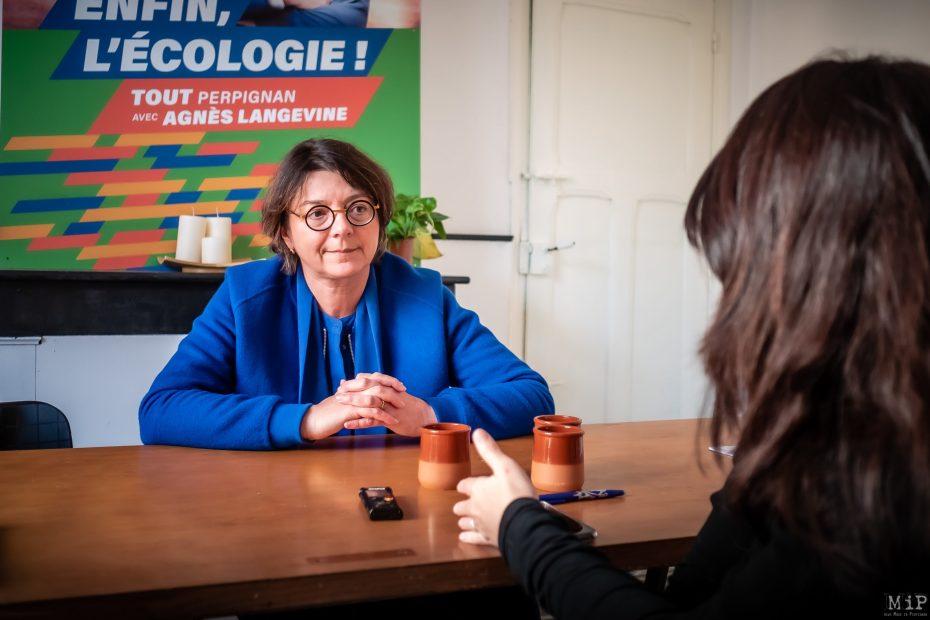 Agnès Langevine interview 2020 campagne municipales Perpignan