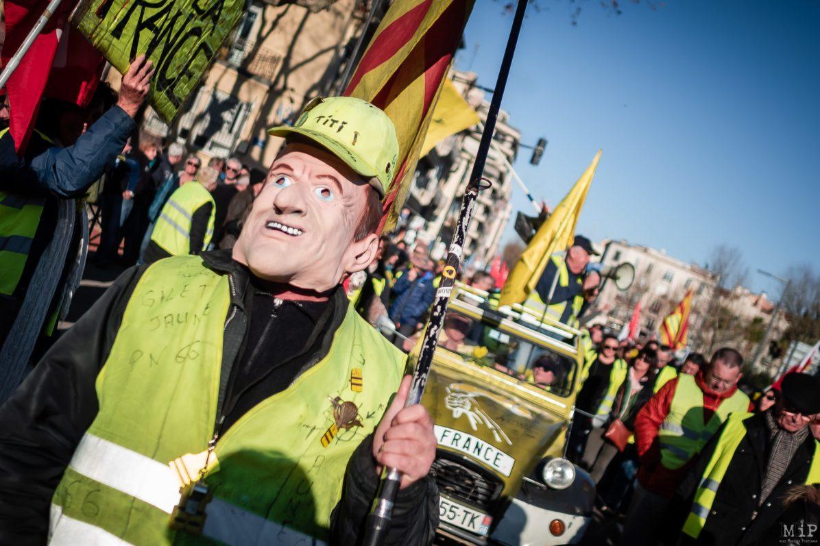 Gilets Jaunes Manifestation contre la réforme des Retraites 9 janvier à Perpignan. Appel intersyndical et interprofessionnel