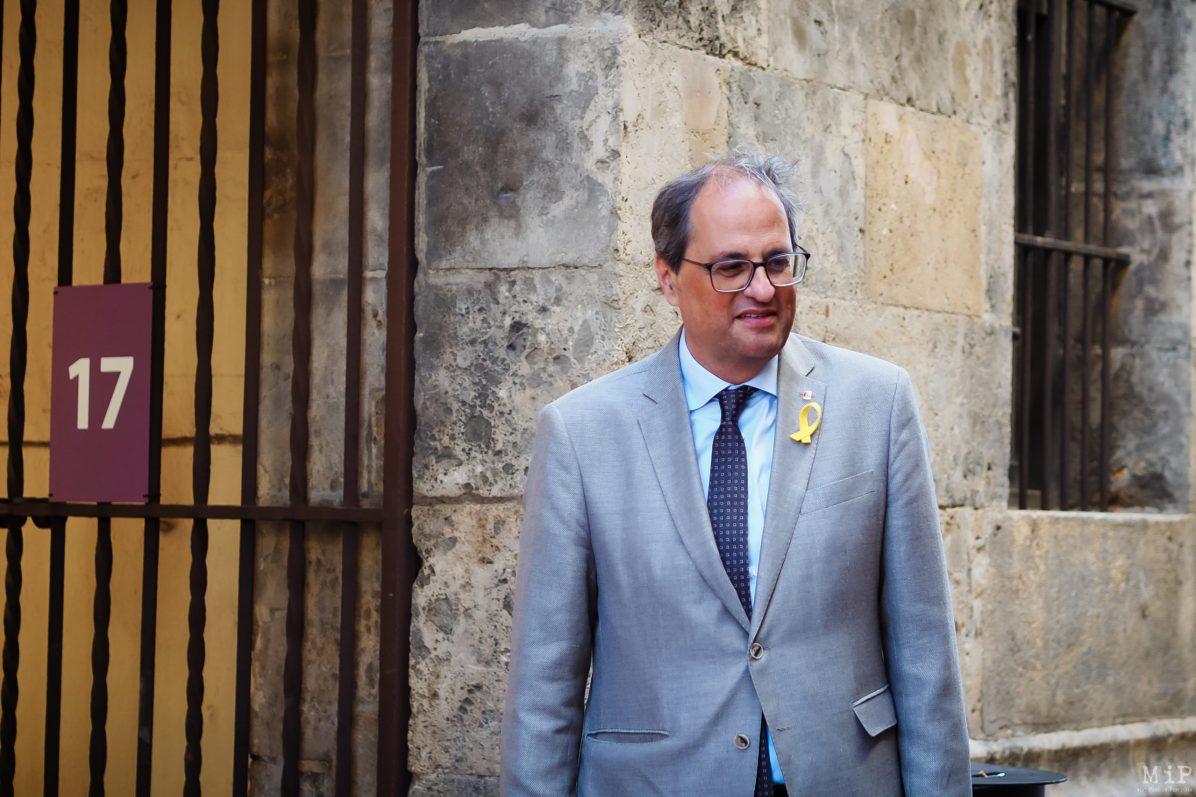 Quim Torra président de la Generalitat crise catalane destitué de son mandat de député