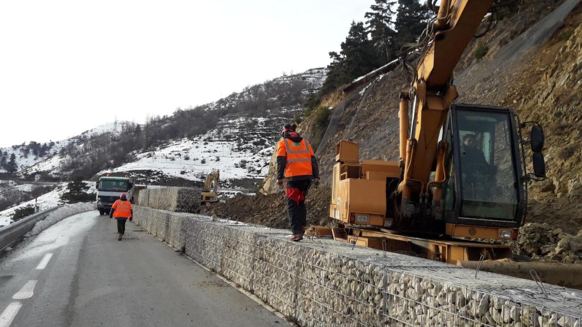 RN116 après Gloria - Credit photo Préfecture des Pyrénées-Orientales