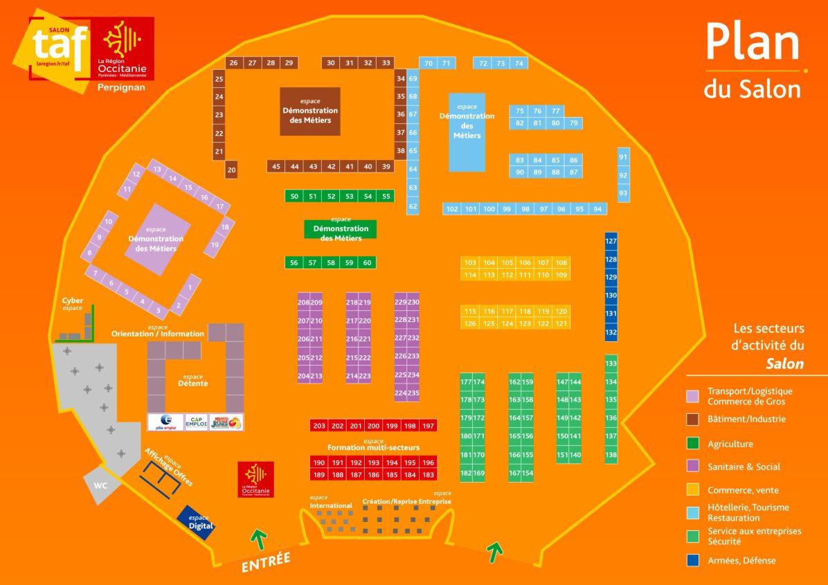 Salon TAF Perpignan - Plan