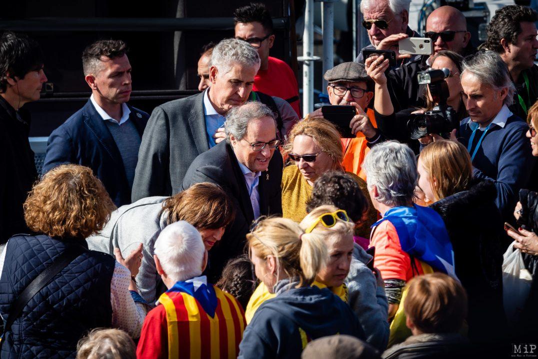 29/02/2020, Quim Torra au meeting de Carles Puigdemont Perpignan
