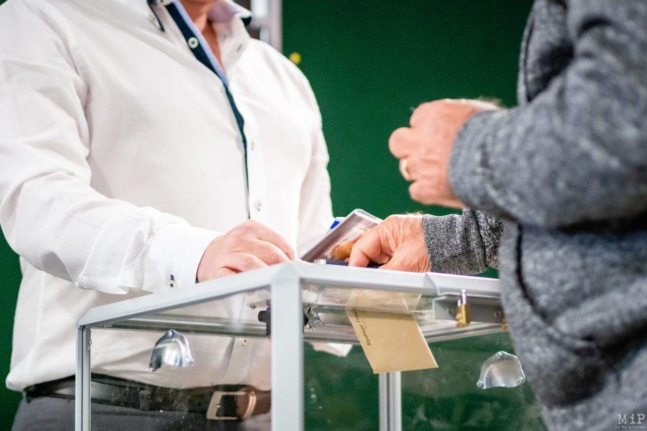 Elections municipales 1er tour Perpignan Illustrations © Arnaud Le Vu / MiP / APM