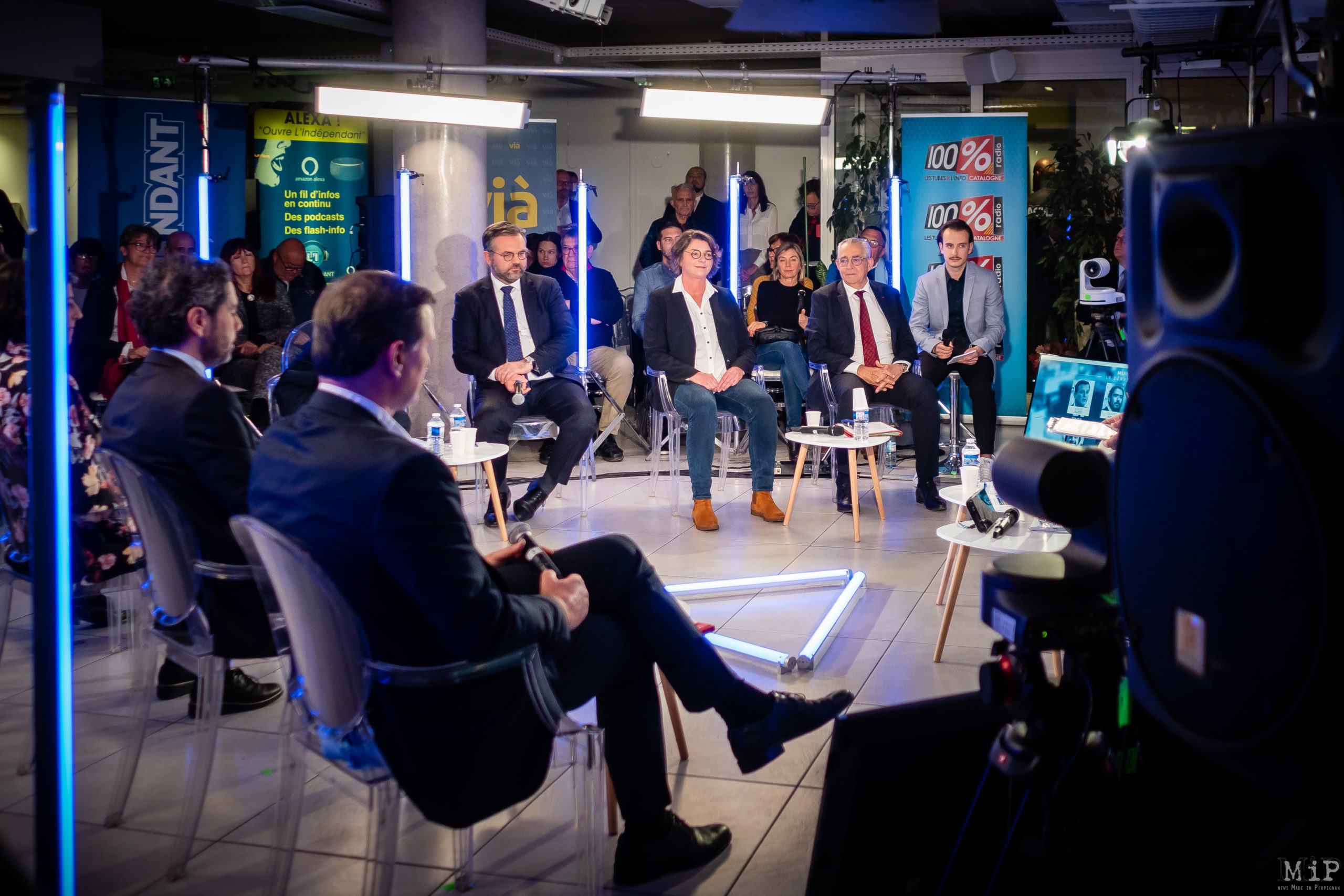 Municipales 2020 Perpignan débat L'Indépendant Via Occitanie premier tour © Arnaud Le Vu / MiP / APM