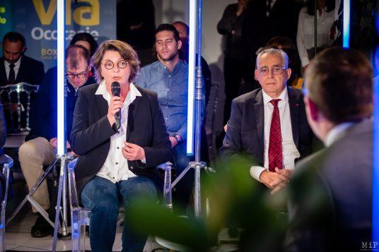 Agnès Langevine Municipales 2020 Perpignan débat L'Indépendant Via Occitanie premier tour © Arnaud Le Vu / MiP / APM