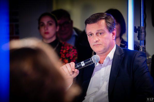 Louis Aliot Municipales 2020 Perpignan débat L'Indépendant Via Occitanie premier tour © Arnaud Le Vu / MiP / APM