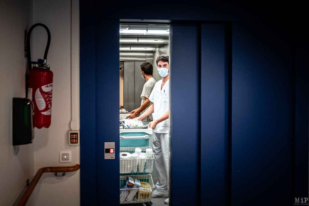 21/04/2020, Sorèdes, France, EHPAD maison de retraite de Sorèdes dans les Pyrénées-Orientales / Prise en charge médicale des personnes âgées et de la dépendance à l'heure de la crise sanitaire Coronavirus Covid-19 © Arnaud Le Vu / MiP / APM