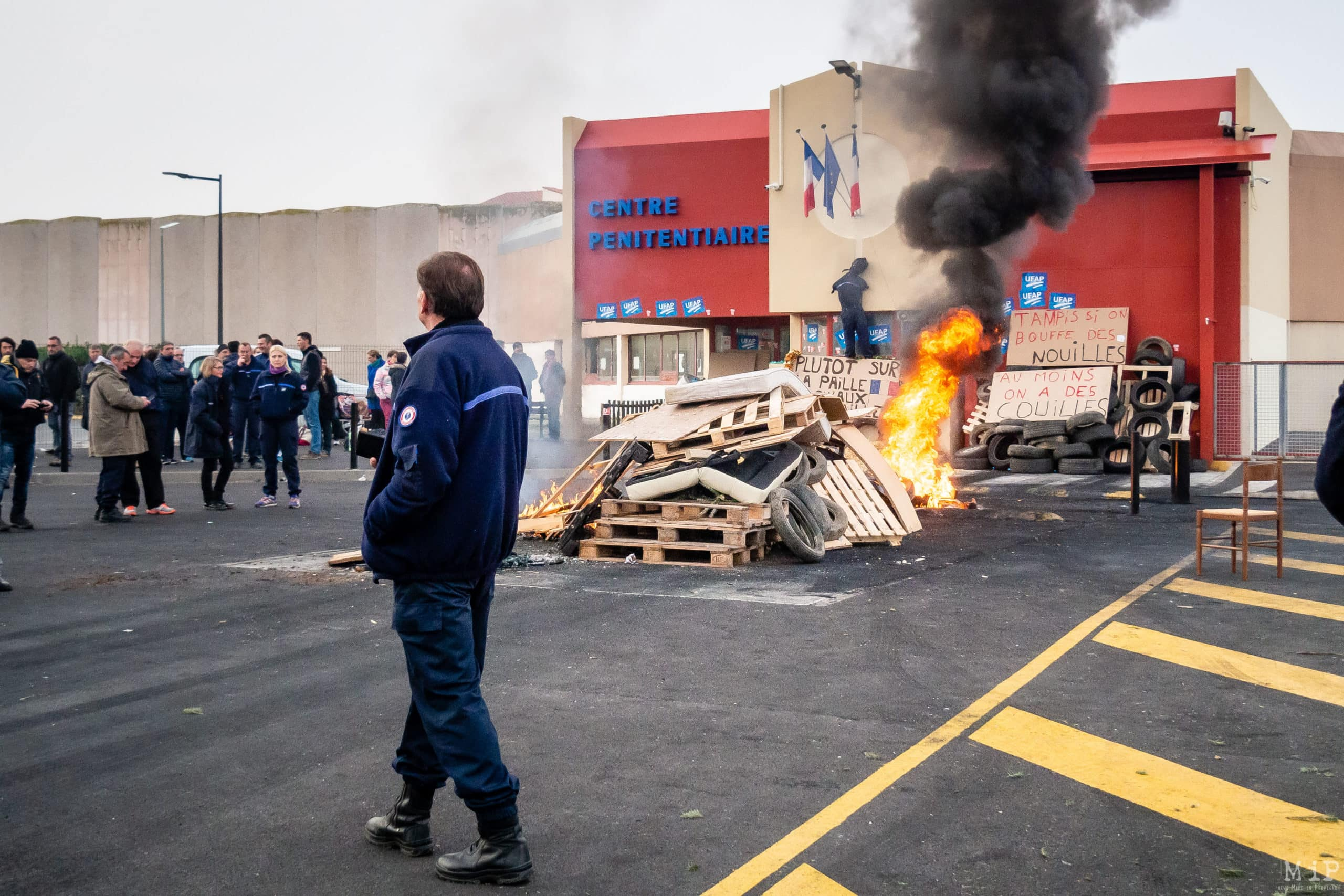 ARCHIVES Perpignan, France 25-01-2018 Manifestation personnels pénitentiaires Centre Prison Perpignan © Arnaud Le Vu - MiP - APM