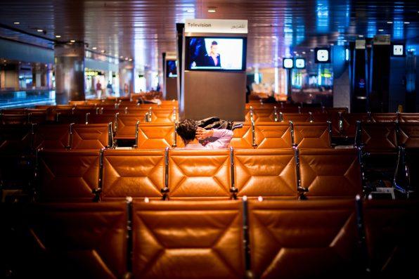 Repatriation - Empty Doha airport Rapatriement - Aeroport de Doha vide.